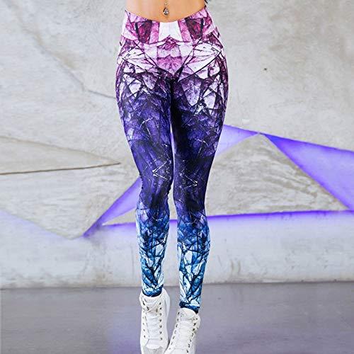 Busirsiz Las Mujeres de Malla Deportes Fitness Gym Polainas elásticos Pantalones de Yoga Bangage cosechó los Pantalones de Secado rápido Atlética Corrientes Respirables Pantalones