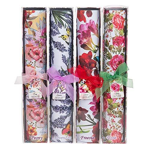 6große Blätter, duftendes Schrankpapier mit Blumenmuster -420x 585mm-sanft, mit Duft, Geschenkbox lavendel