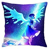 ZHUHOO Steven Universe Lapis Lazuli Bedroom Couch Sofa Square Pillow Case Home Decorative Throw Pillow Covers 18x18 Inch