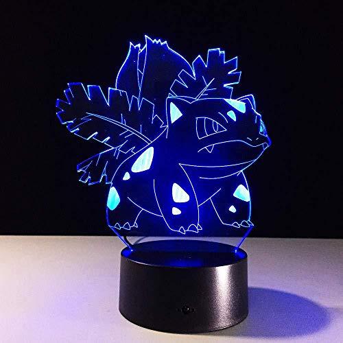 3D Magische Laterne Führte Nachtlicht Pokemon Pikachu Kinder Spielzeug Usb Kinder Geburtstag Weihnachtsgeschenk