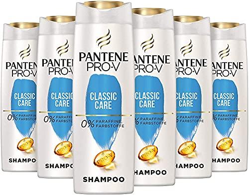 Pantene Pro-V Classic Care Shampoo, 6er Pack (6 x 300 ml), Verleiht Gesund Aussehenden Glanz, Shampoo Damen, Haarpflege Glanz, Shampoo Glanz, Beauty