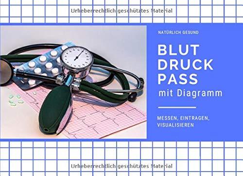 Blutdruckpass mit Diagramm: Blutdruck und Puls messen, eintragen, visualisieren (Blutdrucktagebuch im Querformat, Band 2)