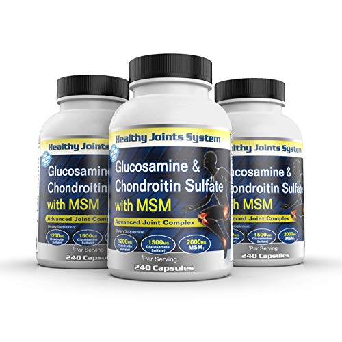 Healthy Joints System Glucosamine Chondroitin MSM Supplement for Joint and Bone Health - 240 Tablets