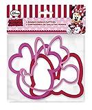 ALMACENESADAN, 0421, Pack 3 cortadores de galletas Disney Minnie Mouse; producto de plástico; libre bpa
