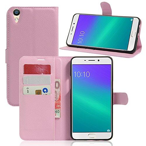 Litao-Case CN Hülle für Oppo R9 Plus hülle Flip Leder + TPU Silikon Fixierh Schutzhülle Case 4