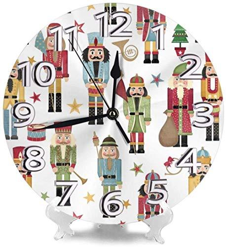 XXSCXXSC Reloj de Pared Árbol de Navidad Estrella Relojes de Escritorio Metal Mudo Decorativo para el hogar Den Personalidad Preciso