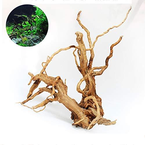 GWFISH Aquarien Zubehör Dekor Verziert Baum-Wurzeln, Aquarium Natürlicher Landschaftsbau, Wasserdekorationen,L