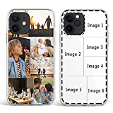 Custom Multiple Pictures Phone Case for iPhone 11 12 13 Pro Max X XR Xs Max, Personalized Phone Cases,Customized Photos Clear TPU Cover Gift for Best Friend,Family,Grandma,Xmas Valentines