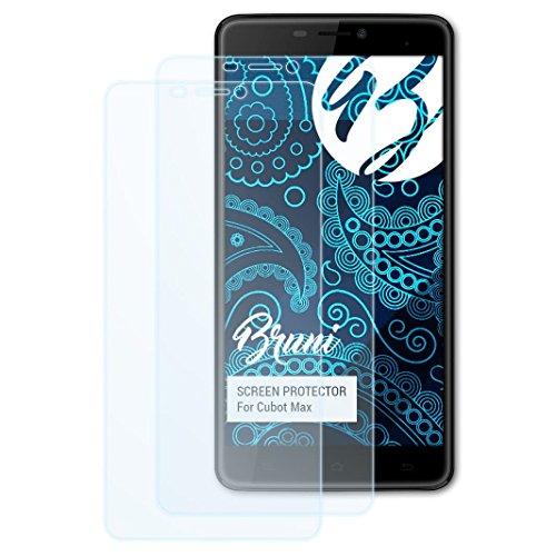 Bruni Schutzfolie kompatibel mit Cubot Max Folie, glasklare Bildschirmschutzfolie (2X)