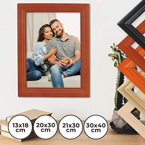 Fotolijst klassiek 21x30cm in 8 verschillende kleuren