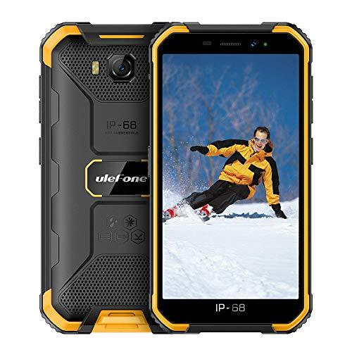 頑丈な電話はUlefone Armor X6(2020)のロックを解除し、防水性と頑丈な電話は世界中の3Gのロックを解除し、デュアルSIM 5 '' Android 9.0 2GB + 16GB 8MPカメラ4000mAh GPS/Glonass/Bluetooth/WiFi/Hotspot/SOS