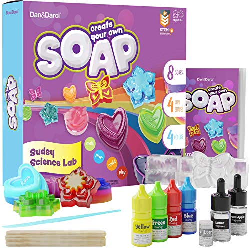 Dan&Darci Soap Making Kit for Kids - Bath Science Project - Gift for Boys & Girls Ages 6-12 - Indoor Activity Craft Kits - Make Your Own DIY Soap