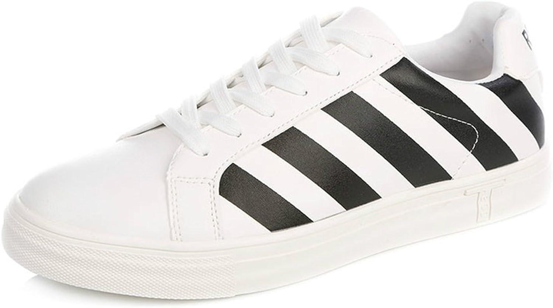 Andningsbara skor Pu skor Män Män Män skor Strippe Tillfälliga skor Lace Flat vit skor Icke -Slip -Andningsverkbar tillfällig  butikshantering