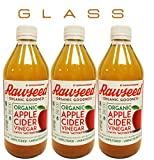 Rawseed Organic Apple Cider Vinegar 3 Pack 16 Oz Glass Chai ...