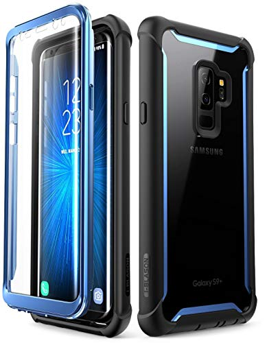 i-Blason Funda Galaxy S9 Plus [Ares] 360 Carcasa Completa Transparente Case con Protector de Pantalla Incorporada para Samsung Galaxy S9 Plus - Azul