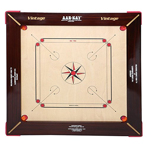 KD AAR-Kay Carrom Board Vintage Plywood Approved by Carrom Federation of India & International Carrom Federation (Jumbo, 32 mm)