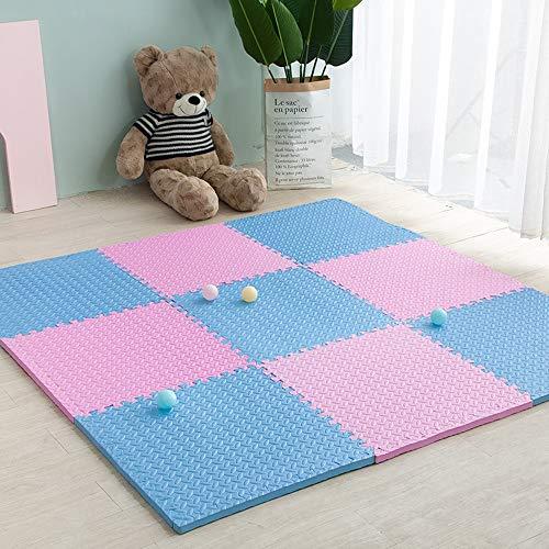 TXOZ Puzzle Espuma Juega Las esteras, 10 PCS la Actividad del bebé Estera, Suave no tóxico for los niños, Niño Que se arrastra, Gimnasio Yoga Deporte (Color : B)