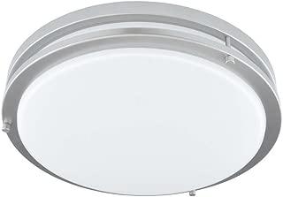 Good Earth Lighting Jordan 14-inch LED Flush Mount Ceiling Light - Brushed Nickel - (2) 60W Incandescent Equivalent - 3000K Bright White - Dimmable - 50,000 Hours Lamp Life - ETL - Energy Star