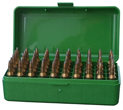 MTM 50 Round Flip-Top Rifle Ammo Box WSSM, 500 S&W (Green)