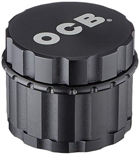 OCB 18887 Grinder örtkvarn med diamantslipad svart matta-50 mm-4 delar, aluminium