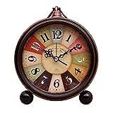 Sooiy Manto/Reloj de Mesa de la Sala de Escritorio Creativo decoración Mute Reloj Digital Relojes, Negro, 15 x 13,5 cm Relojes de Chimenea