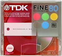 TDK MD〈FINE〉80分 ピンク [MD-FN80PKA]
