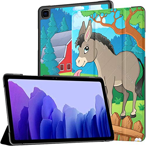 Case For Samsung Galaxy Tab A7 10.4 Inch Tablet 2020(sm-t500/t505/t507),Farm Animals Theme Image 6 Multiple Angle Stand Cover With Auto Wake/sleep