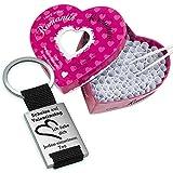 Schlüsselanhänger + Losbox Scheiß auf Valentinstag (schwarz ohne Wunschtext, Romantik):...