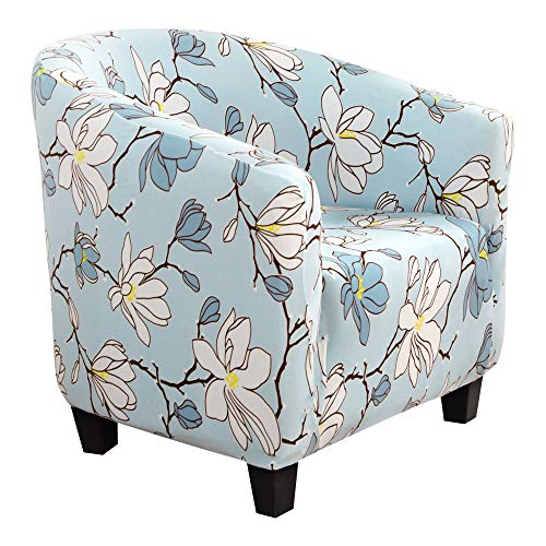 SearchI Club Chair Slipcover, Print Pattern Tub Chair Cover Armchair Sofa Slipcover with Elastic Bottom Super Soft Washable Spandex Skid Resistance Furniture Protector