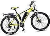 Commuter City Road Bike, VTT électrique, 36V 13Ah haute efficacité batterie au lithium-gamme de kilométrage 50-90Km, en alliage d'aluminium de 26 pouces vélo électrique, frein à disque ,Unisexe