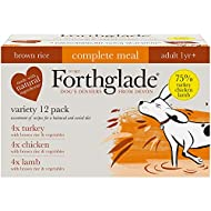 Forthglade Complete Natural Wet Dog Food - Brown Rice Variety Pack (12 x 395 g) Trays - Turkey, Lamb...