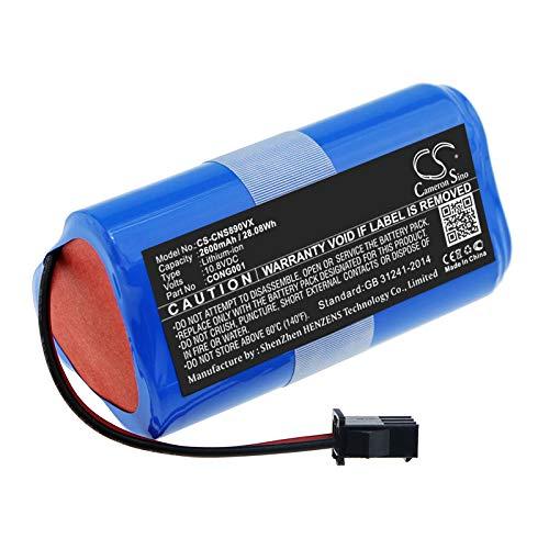 TECHTEK batería sustituye CONG0001 Compatible con [CECOTEC] Conga 890 Slim, Conga Slim, Conga Slim 890, Conga Slim 890 Wet, Conga Slim Wet, Conga Wet