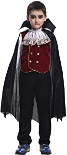 Halloween Cosplay Costume, Children's Masquerade Vampire Costume Plays Out (Color : Black, Size : L)