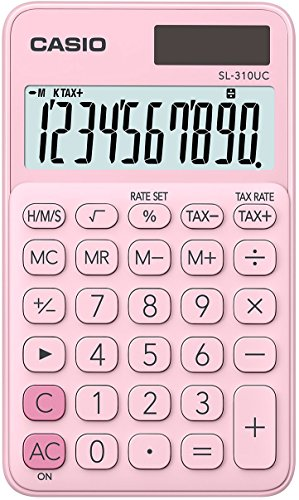 CASIO SL-310UC-PK - Calculadora, 0.8 x 7 x 11.8 cm, color Rosa
