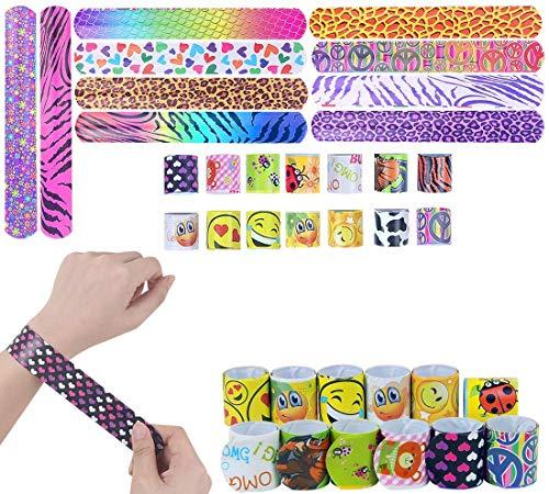 LISOPO 24PCS Schnapparmband Geburtstag Schnapparmband Armband Mitgebsel Mitbringsel kleine Geschenke Spielzeug, Mitgebsel