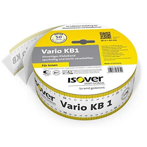 Isover Vario KB 1 40 m x 60 mm einseitiges Klebeband für Überlappungen im Innenraum