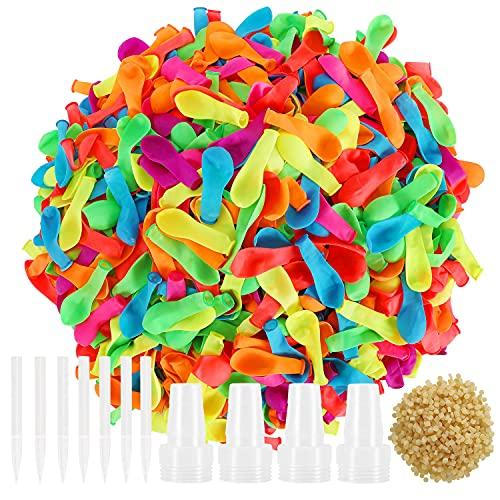 Hotelvs 1000 Palloncini d'Acqua, Estate Splash Fun Gioco di Combattimento d'Acqua Piscina Spiaggia Giardino Palloncini Giocattoli per Bambini e Adulti, Multicolore