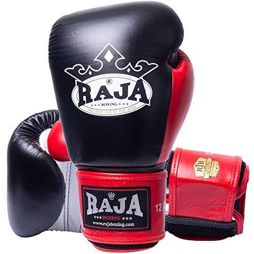 RAJA Boxhandschuhe, RBGV-1, Leder, schw-weiß-rot Größe 10 Oz