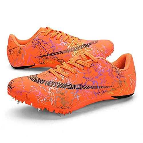 Spikes Zapatos Atletismo Zapatos Hombre De Atletismo de Alta Elasticidad Zapatillas de Clavos Profesionales de 8 Clavos Salto Largo Zapatillas de Entrenamiento,008,43EU