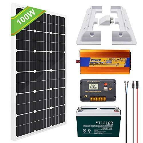 ECO WORTHY Fotovoltaico Monocristallino Regolatore Alloggiamento
