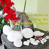 MGS SHOP Dekokies Dekosteine Streudeko Kies – Farbe wählbar (5 kg, Schneeweiß 15-25) - 7
