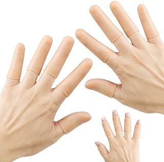 Finger Cots Gel Finger Protector Finger Brace Support Finger Gloves Waterproof Finger tip Bandages for Trigger Finger Hand...