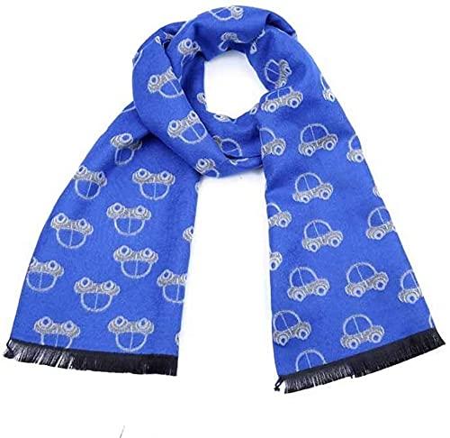 Envoltura de chal de bufanda de cuello de moda Bufanda para niños suave lindo dibujos animados patrón de coche bufanda de borla, un tamaño que se ajusta más, para niños pequeños, niños pequeños, niños