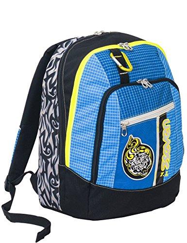 Zaino Scuola Advanced Seven - Tribal Boy - Moschettone Amovibile - Blu - 30 LT - Inserti rifrangenti