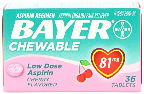 Bayer Chewable Low Dose Aspirin Cherry , 3 Count