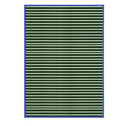 HOGAR Y MAS Alfombra BAMBÚ Rayas Verdes 140X200