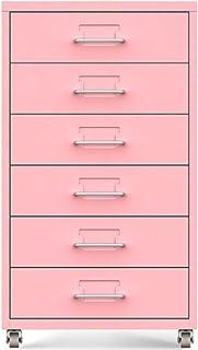 DXIUMZHP Rangement de dossiers Armoire De Rangement Amovible À 6 Tiroirs, Une Armoire Basse Verticale Portable Au Bureau, ...