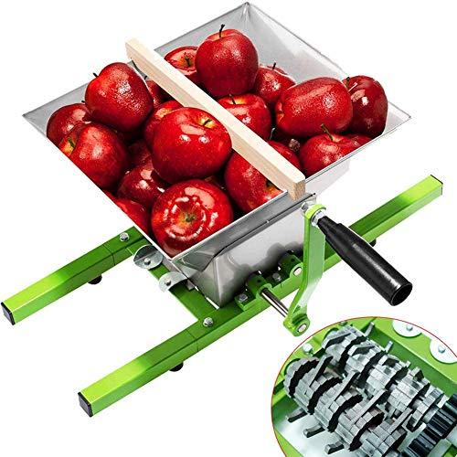 JIXIN Trituradora De UVA De Acero Inoxidable De 7L Molino Batidora Prensa De Frutas con Manivela (Molino De Frutas, 7L)