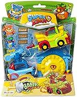 Superzings PSZSB216IN40 Zestaw Misja Napad na Bank, z 2 Figurkami i 2 Pojazdami, Seria 5, Wielokolorowy