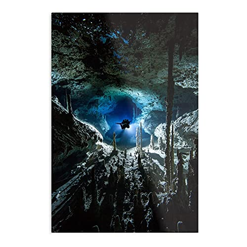 Cave Diving – de meest indrukwekkende en elegante poster voor binnenshuis.